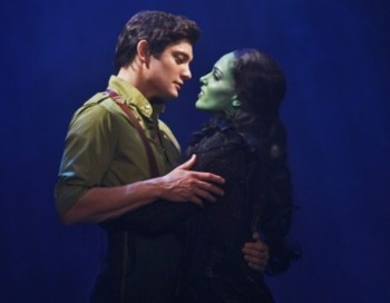 Rob Mills as Fiyero and Amanda Harrison as Elphaba in Wicked