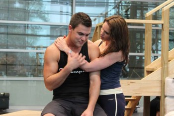 An Officer and a Gentleman - Amanda Harrison and Ben Mingay in rehearsals
