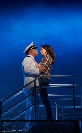 Ben Mingay and Amanda Harrison in An Officer and a Gentleman. Image by Brian Geach