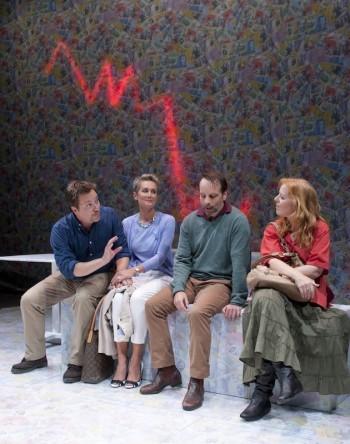 Warren Jones, Lenore Smith, Jamie Oxenbould and Di Adams in When Dad Married Fury. Image by Steve Lunam