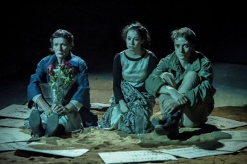 Jacqy Phillips, Danielle Catanzariti and Thomas Conroy in  Brink Productions' Land and Sea
