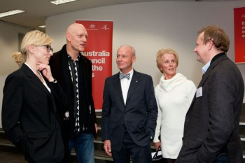 Cate Blanchett, Peter Garrett, James Strong, Jeanne-Claude Strong and Andrew Upton. Image by Jaime Williams