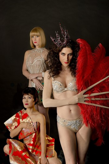From left: Yumi Umiumare, Holly Durant, Moira Finucane Photo:  Jodie  Hutchinson