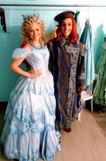 Suzie Mathers and Chris Scalzo backstage in WICKED