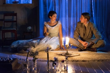 Rose Riley and Harry Greenwood in The Glass Menagerie. Photo by Brett Boardman.
