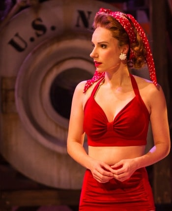 Erin James as Ensign Cora MacRae in South Pacific. Image by Kurt Sneddon