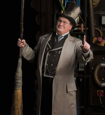 Simon Gallaher as the Wizard in Wicked. Photography: Stephen Reinhardt.