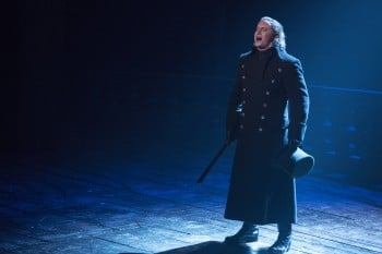 Hayden Tee, currently starring as Javert in Les Miserables, is heading to Broadway. Photo by Matt Murphy.