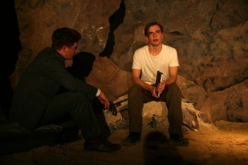 Brandon McClelland and Simon Croker in A Town Named War Boy. By Tracey Schramm.