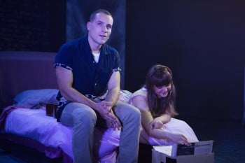 Luigi Lucente and Hilary Cole in Dogfight. Photo by Noni Carroll