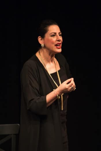 Maria Mercedes in Masterclass. Image by Clare Hawley
