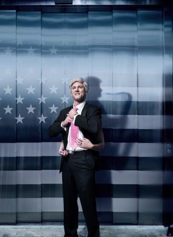 Matt Dyktynski as Bill Clinton in Clinton The Musical. Image by Robert Frith