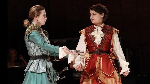 Voyage to the Moon. Sally-Anne Russell , Emma MAtthews. Photo by Jeff Busby