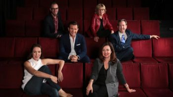 Lisa Campell and the board of Hayes Theatre Co