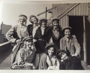 The eight 'Singing Ladies'. Ailsa is on the far right, in the middle row.