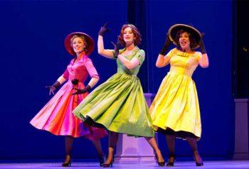 Madeleine Jones, Ellen Simpson, and Natalie Gamsu in Ladies in Black - Queensland Theatre. Image Supplied.