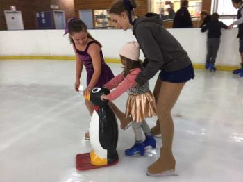 Local ice skaters helping out at the Disney on Ice, Frozen morning tea. Image by Jemma Lanyon.