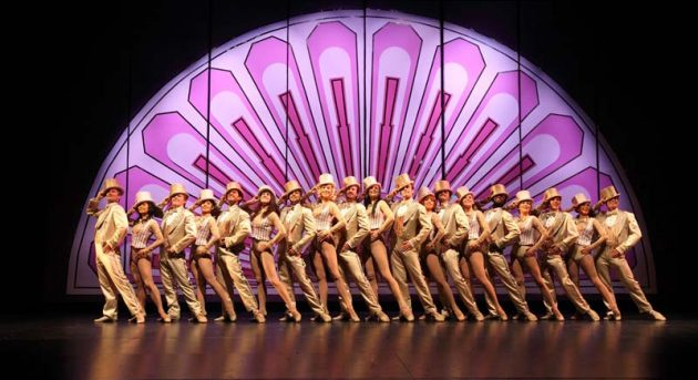The cast of A Chorus Line perform 'One'