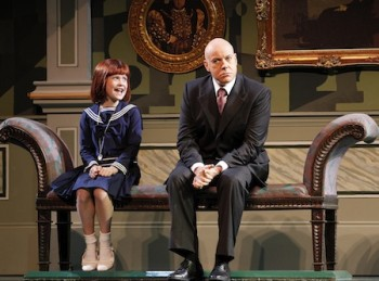 Ella Nicol and Anthony Warlow in Annie 2012