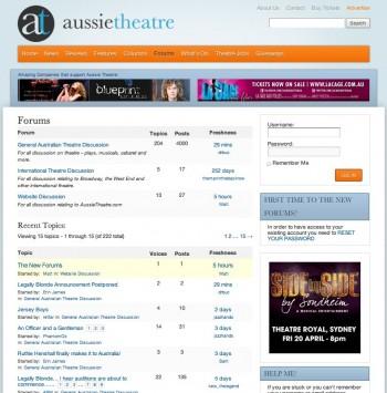 New AussieTheatre Forums