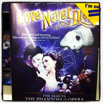 Love Never Dies DVD cover