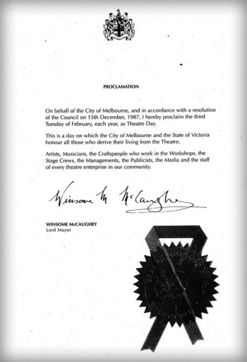 Theatre Day Proclamation