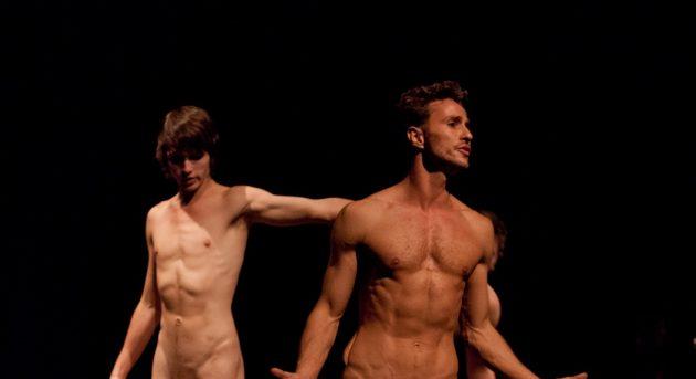 Joshua Harrison and Elijah Rohner in Naked Boys Singing. Image by Dario Gardiman