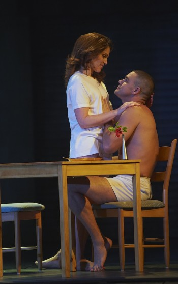 Amanda Harrison and Ben Mingay in An Officer and a Gentleman
