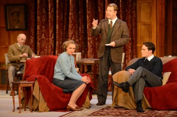 Nicholas Hope (Major Metcalf), Christy Sullivan (Mollie Ralston) Justine Smith (Sargent Trotter) & Gus Murray (Giles Ralston). Image by James Morgan