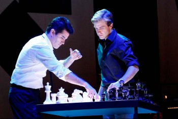 The Production Company's Chess. Martin Crewes and Simon Gleeson. Image by Jeff Busby