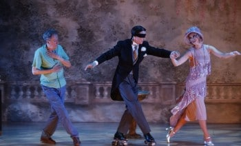 MTC's The Drowsy Chaperone - Geoffrey Rush, Alex Rathgeber and Christie Whelan. Image by Jeff Busby