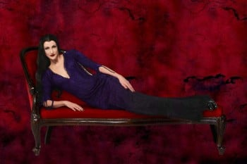 Chloe Dallimore as Morticia in The Addams Family