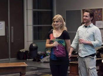 David Harris and Lucy Durack in rehearsals for Legally Blonde. Image by Matt Watson
