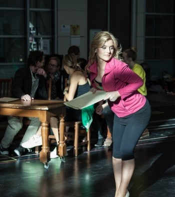 Lucy Durack during Legally Blonde rehearsals. Image by Matt Watson