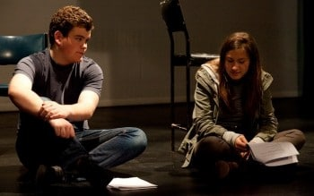 Love Letters in rehearsal. Image by Pia Johnson