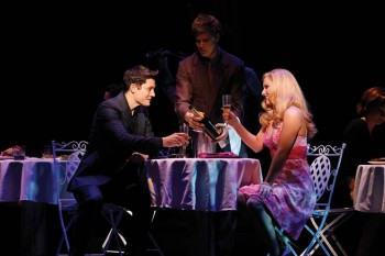 Rob Mills as Warner and Lucy Durack as Elle in Legally Blonde. Image by Jeff Busby