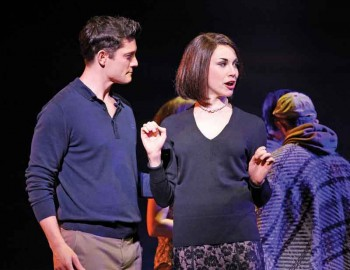 Ali Calder as Vivian and Rob Mills as Warner in Legally Blonde. Image by Jeff Busby