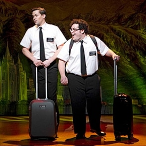 Andrew Rannells and Josh Gad in The Book Of Mormon. Image by Joan Marcus