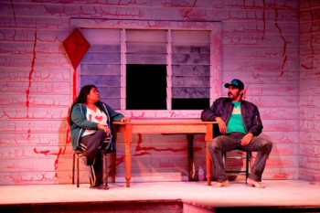 Pauline Whyman and Aaron Pedersen in Signs of Life © Lisa Tomasetti 2012