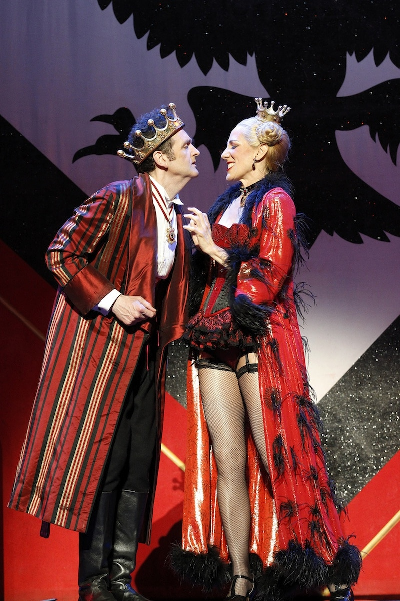 Alan Brough and Jennifer Vuletic in Chitty Chitty Bang Bang. Image by Jeff Busby