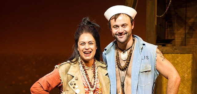 First glimpse of Grantley and Anu in South Pacific, Brisbane