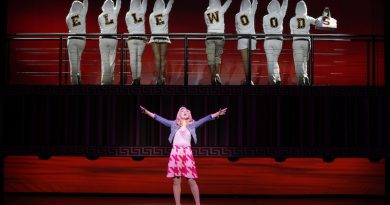 Lucy Durack as Elle Woods in Legally Blonde.
