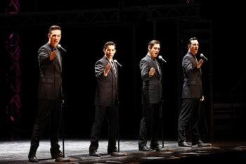 Declan Egan, Jeff Madden, Anthony Harkin and Glaston Toft. Jersey Boys