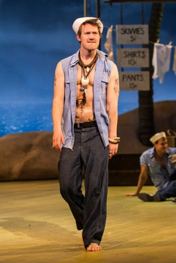 Eddie Perfect as Luther Billis in South Pacific. Image by Kurt Sneddon