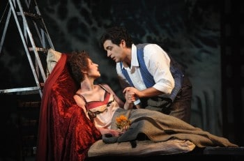 Gianluca Terranova as Rodolfo and Nicole Car as Mimì. Image by Branco Gaica