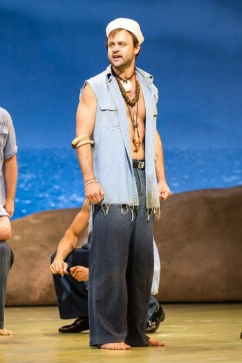 Gyton Grantley as Luther Billis in South Pacific 2013. Image by Kurt Sneddon