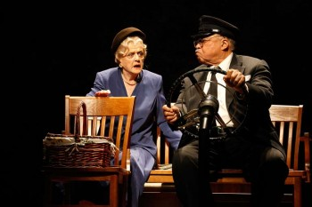 Angela Lansbury James Earl Jones in Driving Miss Daisy. Image by Jeff Busby