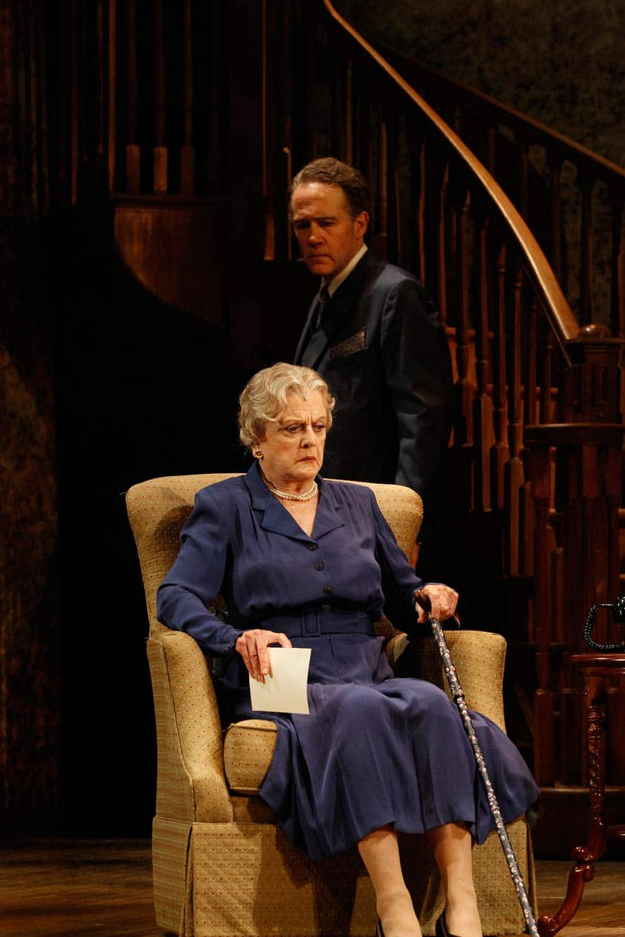 Angela Lansbury and Boyd Gaines in Driving Miss Daisy. Image by Jeff Busby