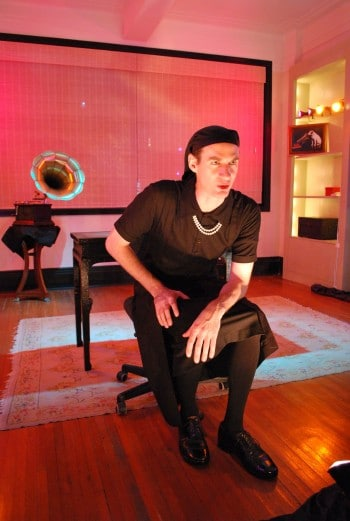Charles Mayer in I AM MY OWN WIFE. Photo courtesy of 3rd Culture Theatre.