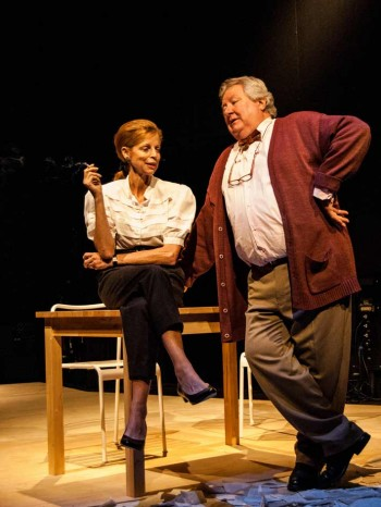 Heather Mitchell and John Wood in The History Boys. Image by Geny Brun